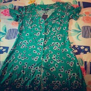 Summer Green Flower Dress